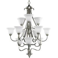 41 Elizabeth 41346-BNE Slade 12 Light 34 inch Brushed Nickel Hall & Foyer Ceiling Light in Etched