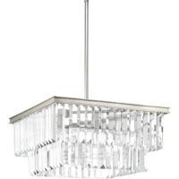41ELIZABETH 43485-SRI Benedict 4 Light 20 inch Silver Ridge Pendant Ceiling Light, Design Series