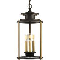 41 Elizabeth 42063-ABCI Marissa 3 Light 10 inch Antique Bronze and Vintage Brass Outdoor Hanging Lantern