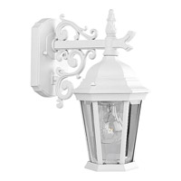 41ELIZABETH 41849-TWCB Dover 1 Light 13 inch Textured White Outdoor Wall Lantern Small