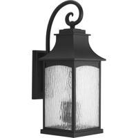 41ELIZABETH 42002-BWS Corrina 3 Light 24 inch Textured Black Outdoor Wall Lantern Large