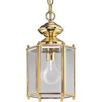 41ELIZABETH 41828-PBCB Petronella 1 Light 7 inch Polished Brass Outdoor Ceiling Lantern