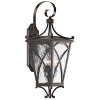 41ELIZABETH 43523-ORCW Madison 3 Light 27 inch Oil Rubbed Bronze Outdoor Wall Lantern Large Design Series