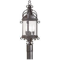 41ELIZABETH 40939-OBCS Fay 4 Light 27 inch Old Bronze Post Lantern in Incandescent