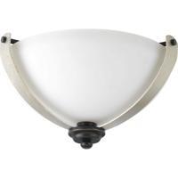 41ELIZABETH 43450-ABEI Vanora 2 Light 15 inch Antique Bronze Flush Mount Ceiling Light, Design Series