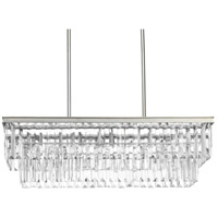 41ELIZABETH 43465-SRI Benedict 4 Light 34 inch Silver Ridge Linear Chandelier Ceiling Light, Design Series