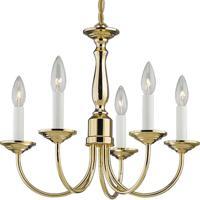 41ELIZABETH 41222-PB Kipling 5 Light 18 inch Polished Brass Chandelier Ceiling Light