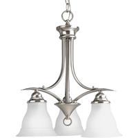 41ELIZABETH 41237-BNE Nerissa 3 Light 19 inch Brushed Nickel Chandelier Ceiling Light