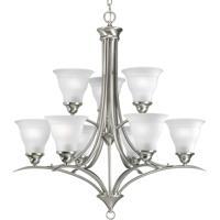 41ELIZABETH 41245-BNE Nerissa 9 Light 30 inch Brushed Nickel Chandelier Ceiling Light