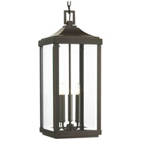 41ELIZABETH 43520-ABCB Caelum 3 Light 10 inch Antique Bronze Outdoor Hanging Lantern, Design Series