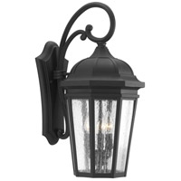 41ELIZABETH 43516-BCSI Gilford 3 Light 22 inch Textured Black Outdoor Wall Lantern, Large, Design Series