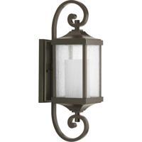 41ELIZABETH 43511-ABCS Barnett 1 Light 20 inch Antique Bronze Outdoor Wall Lantern, Small, Design Series