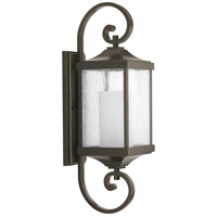 41ELIZABETH 43522-ABCS Barnett 1 Light 26 inch Antique Bronze Outdoor Wall Lantern, Medium, Design Series thumb