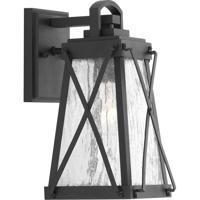 41ELIZABETH 43489-BCSI Lorraine 1 Light 12 inch Textured Black Outdoor Wall Lantern, Small, Design Series