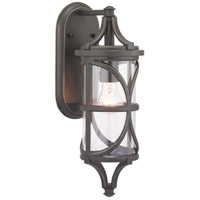 41ELIZABETH 46359-ABCI Chay 1 Light 17 inch Antique Bronze Outdoor Wall Lantern Small Design Series