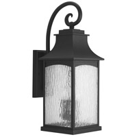 41ELIZABETH 42002-BWS Corrina 3 Light 24 inch Textured Black Outdoor Wall Lantern, Large
