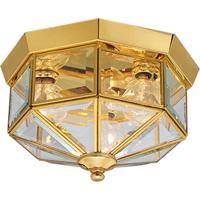 41ELIZABETH 55999-PBCB Petronella 3 Light 10 inch Polished Brass Flush Mount Ceiling Light