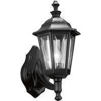 41ELIZABETH 55979-BCB Fabian 1 Light 14 inch Textured Black Outdoor Wall Lantern