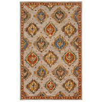 41ELIZABETH 47841-RB Aemilius 96 X 30 inch Rust/Coral/Mustard/Dark Blue/Denim/Light Gray Rugs thumb