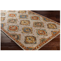 41ELIZABETH 47841-RB Aemilius 96 X 30 inch Rust/Coral/Mustard/Dark Blue/Denim/Light Gray Rugs aes2310_corner.jpg thumb