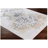 41ELIZABETH 48045-CG Ainsley 91 X 31 inch Charcoal/Medium Gray/Mustard/Light Gray Rugs, Runner ais2308_corner.jpg thumb