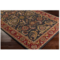 41ELIZABETH 48673-BR Arlo 42 X 42 inch Bright Red/Charcoal/Mustard/Dark Brown/Olive/Tan Rugs, Round awhy2061_corner.jpg thumb