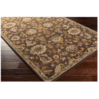 41ELIZABETH 48741-DB Arlo 156 X 108 inch Dark Brown/Camel/Ivory/Olive/Teal/Mustard Rugs, Rectangle awmd1002_corner.jpg thumb