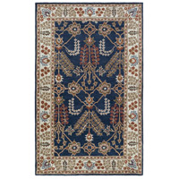 41ELIZABETH 48791-NB Arlo 156 X 108 inch Navy/Ivory/Camel/Dark Brown/Garnet Rugs, Rectangle thumb