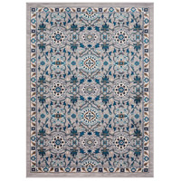 41ELIZABETH 50915-MG Amanda 67 X 47 inch Medium Gray/Sky Blue/Navy/Camel/Dark Brown/Ivory Rugs, Rectangle thumb