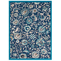 41ELIZABETH 50965-NB Amanda 67 X 47 inch Navy/Sky Blue/Camel/Medium Gray/Dark Brown/Ivory Rugs, Rectangle thumb