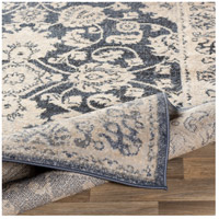 41ELIZABETH 51587-DG Aquamarine 87 X 63 inch Denim/Light Gray/Wheat/Charcoal/Black/Cream Rugs cyl2306-fold.jpg thumb