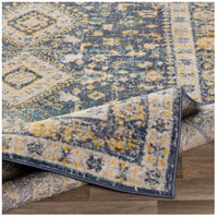 41ELIZABETH 51620-DG Aquamarine 87 X 63 inch Denim/Saffron/Cream/Wheat/Aqua/Light Gray/Charcoal Rugs cyl2322-fold.jpg thumb