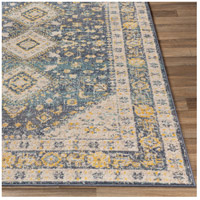 41ELIZABETH 51620-DG Aquamarine 87 X 63 inch Denim/Saffron/Cream/Wheat/Aqua/Light Gray/Charcoal Rugs cyl2322-front.jpg thumb