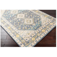 41ELIZABETH 51620-DG Aquamarine 87 X 63 inch Denim/Saffron/Cream/Wheat/Aqua/Light Gray/Charcoal Rugs cyl2322_corner.jpg thumb