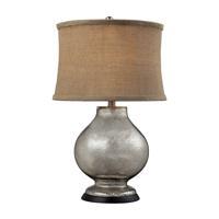 41 Elizabeth 46236-AM Carla 25 inch 100 watt Antique Mercury Table Lamp Portable Light in Incandescent