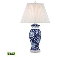 41 Elizabeth 40334-BL Colbert 28 inch 9.5 watt Blue/White Table Lamp Portable Light in LED 3-Way