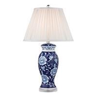 41 Elizabeth 46246-B Colbert 28 inch 150 watt Blue/White Table Lamp Portable Light in Incandescent 3-Way
