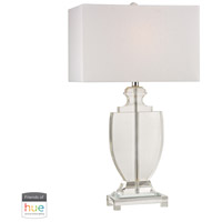 41 Elizabeth 40032-CL Juniper 26 inch 60 watt Clear Table Lamp Portable Light in Dimmer Hue LED Philips Friends of Hue