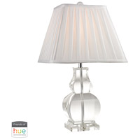 41 Elizabeth 40034-CL Elias 19 inch 60 watt Clear Table Lamp Portable Light in Hue LED Bridge Philips Friends of Hue
