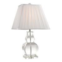 41 Elizabeth 40339-C Elias 19 inch 60 watt Clear Table Lamp Portable Light in Incandescent 3-Way