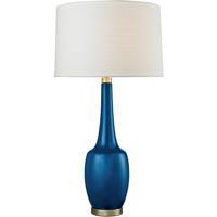 41 Elizabeth 46145-AB Knox 36 inch 150 watt Antique Brass/Navy Blue Table Lamp Portable Light in Incandescent 3-Way
