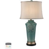 41 Elizabeth 46132-BL Fern 31 inch 60 watt Bronze/Gold/Seafoam Table Lamp Portable Light in Dimmer Hue LED Philips Friends of Hue