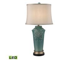 41 Elizabeth 46160-BL Fern 31 inch 9.5 watt Bronze/Gold/Seafoam Table Lamp Portable Light in LED 3-Way