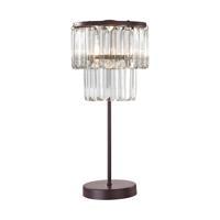 41 Elizabeth 46156-B Darren 18 inch 40 watt Bronze/Clear Table Lamp Portable Light