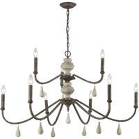 41 Elizabeth 46202-MRL Thorne LED 42 inch Malted Rust/Gray Wood Chandelier Ceiling Light Grande