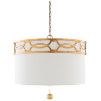 41ELIZABETH 47637-W Yates 3 Light 23 inch White Pendant Ceiling Light