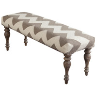 41ELIZABETH 47516-CT Ortensia Cream/ Taupe Furniture Rectangle Wood Base Hand Woven