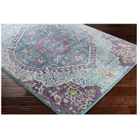 41ELIZABETH 52495-BP Ayland 94 X 34 inch Bright Purple/Pale Blue/Teal/Lime/Dark Green/Camel Rugs, Polyester ger2304_corner.jpg thumb