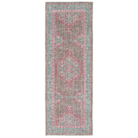 41ELIZABETH 52522-TP Ayland 94 X 34 inch Teal/Taupe/Bright Pink Rugs, Polyester thumb