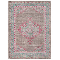 41ELIZABETH 52524-TP Ayland 65 X 47 inch Teal/Taupe/Bright Pink Rugs, Polyester thumb